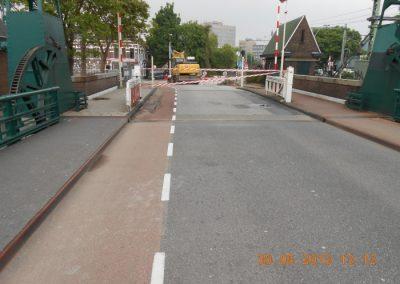 Eindresultaat, de brug sluit weer goed