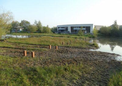 Fundatie voor het nieuwe gedeelte