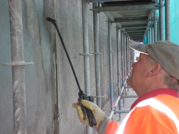 Betonrenovatie plofsluis Nieuwegein
