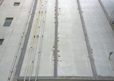 Betonschades silogebouw