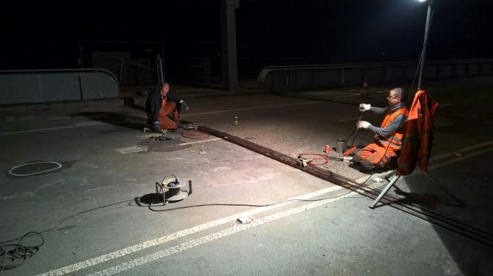 Betonreparatie John Frost brug te Arnhem