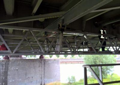 Bereikbaarheid betonreparatie onderzijde met hangsteigers