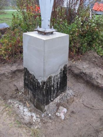 Mastfundatie na betonreparatie