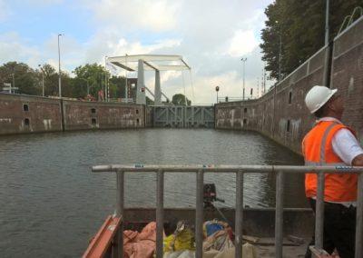Onderhoud Merwedesluis Gorinchem