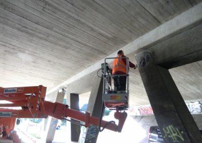Betonreparaties Pierre van Hauwe viaduct