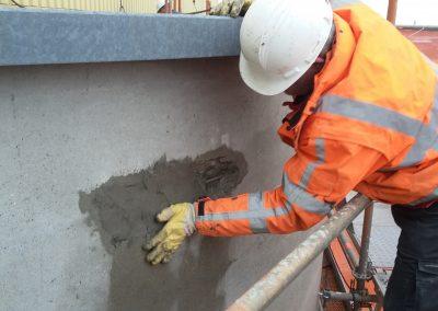 Betonreparatie, repareren beton