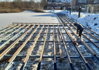 Opbouw stalen draagconstructie