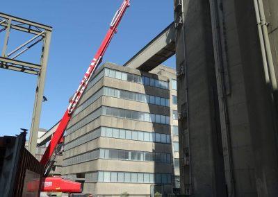 Betonreparatie vanuit hoogwerkers