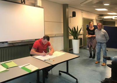 Davey Diploma uitreiking Betonreparatie
