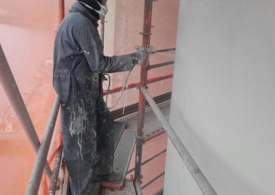 Spuiten conservering silo's
