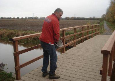 Slijtlaag houten brug