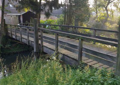 bestaande situatie te vervangen houten brug