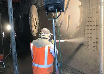 betonreparatie natte spuitbeton