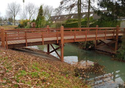 eindresultaat houten brug