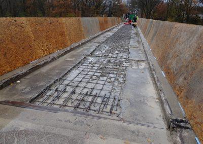 Beton 10 cm diep verwijderd