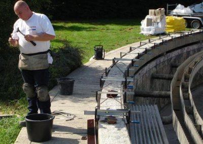 Betonrenovatie omlooprand RWZI Nijmegen