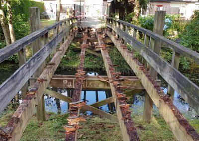 sloopwerk houten brug